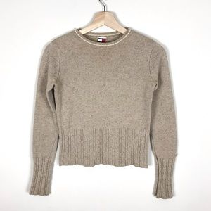 VINTAGE Tommy Hilfiger Tan Fitted Sweater - XS